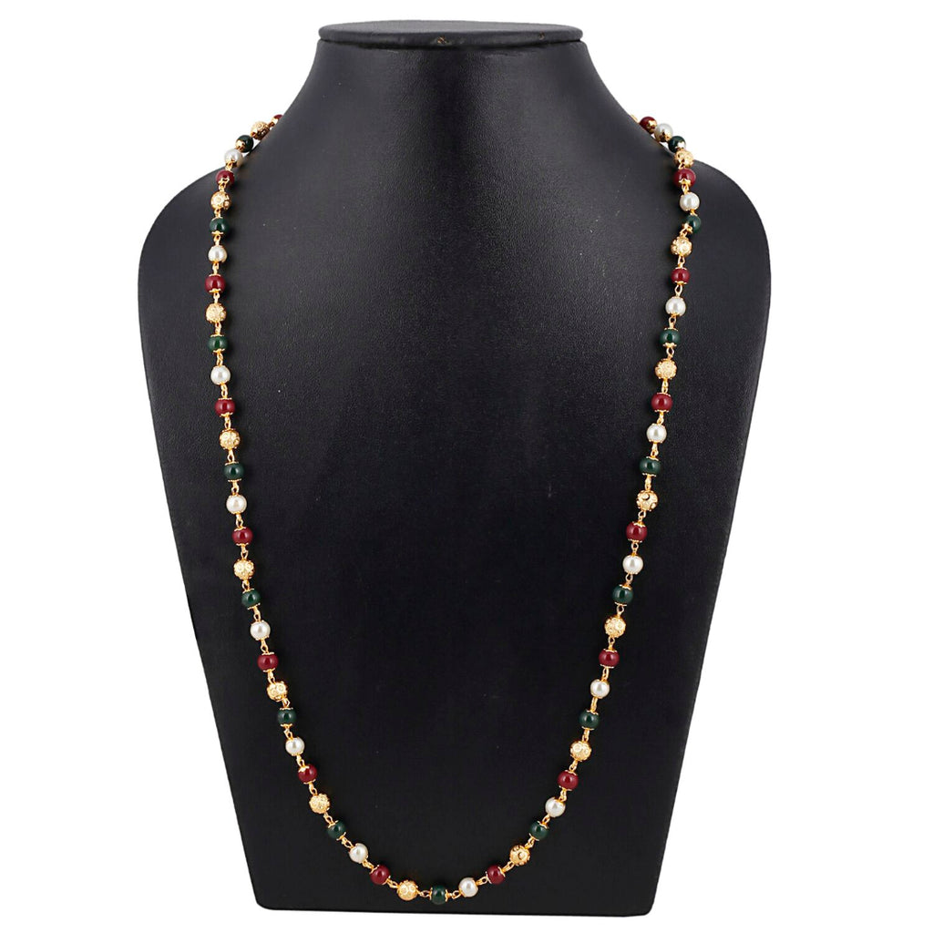 Pearl Mala Daily Wear Gold Plated Chain