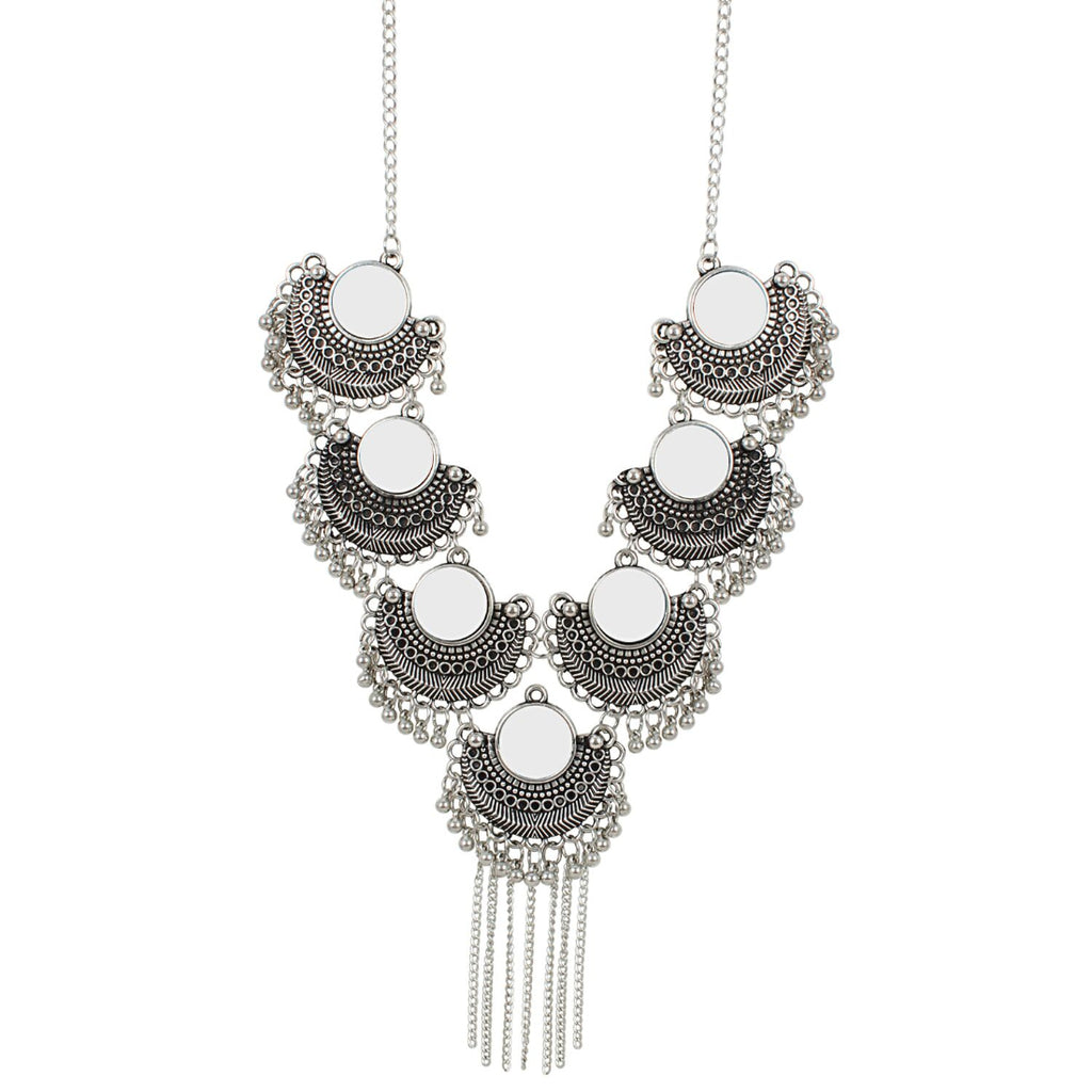 Antique Oxidized Silver Necklace Jewellery