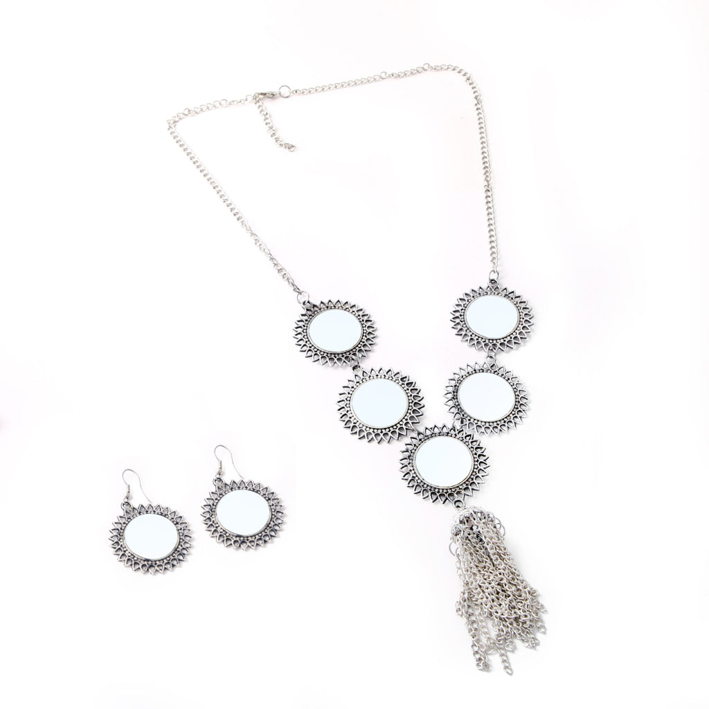Afghani Designer Turkish Style Vintage Oxidised German Silver Tribal Necklace Pandeant Antique Jewellery Boho Gypsy