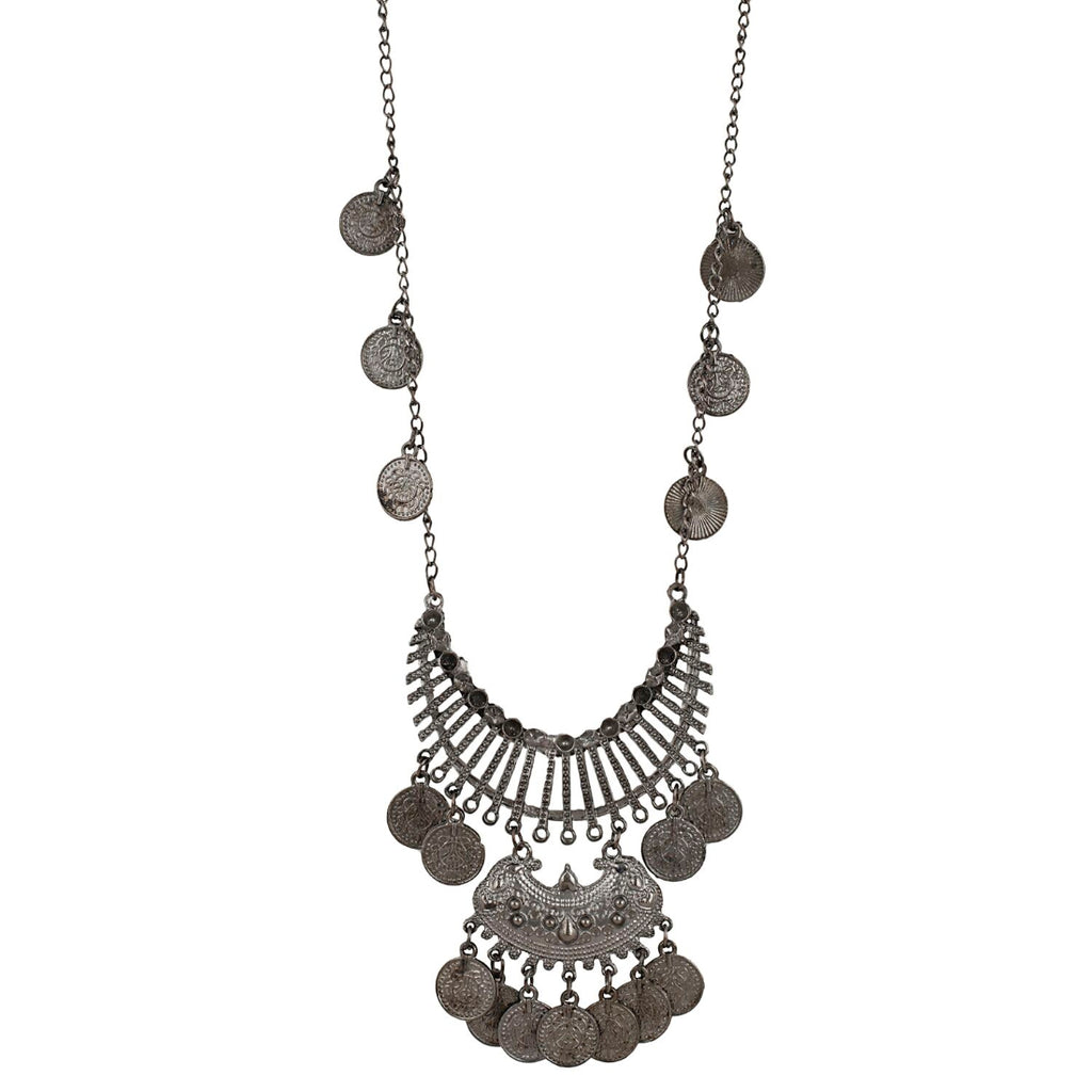 Oxidised German Silver Boho Gypsy Afghani Designer Turkish Style Vintage Jewellery