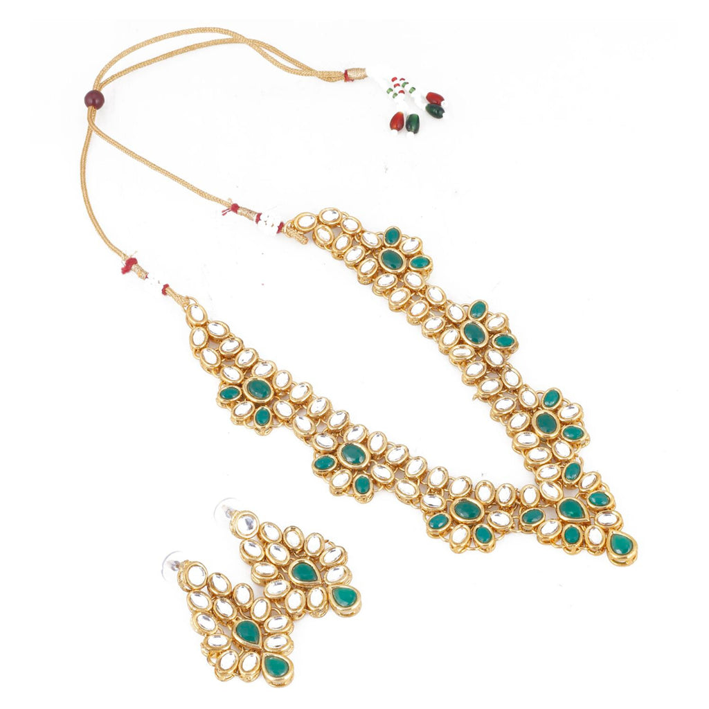 Bollywood Inspired Traditional Kundan Necklace with Earrings