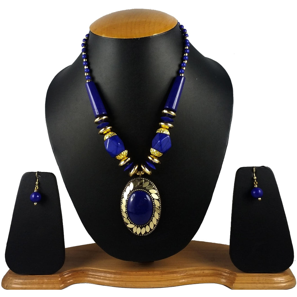 Designer Handmade Blue Beads Fashion Necklace