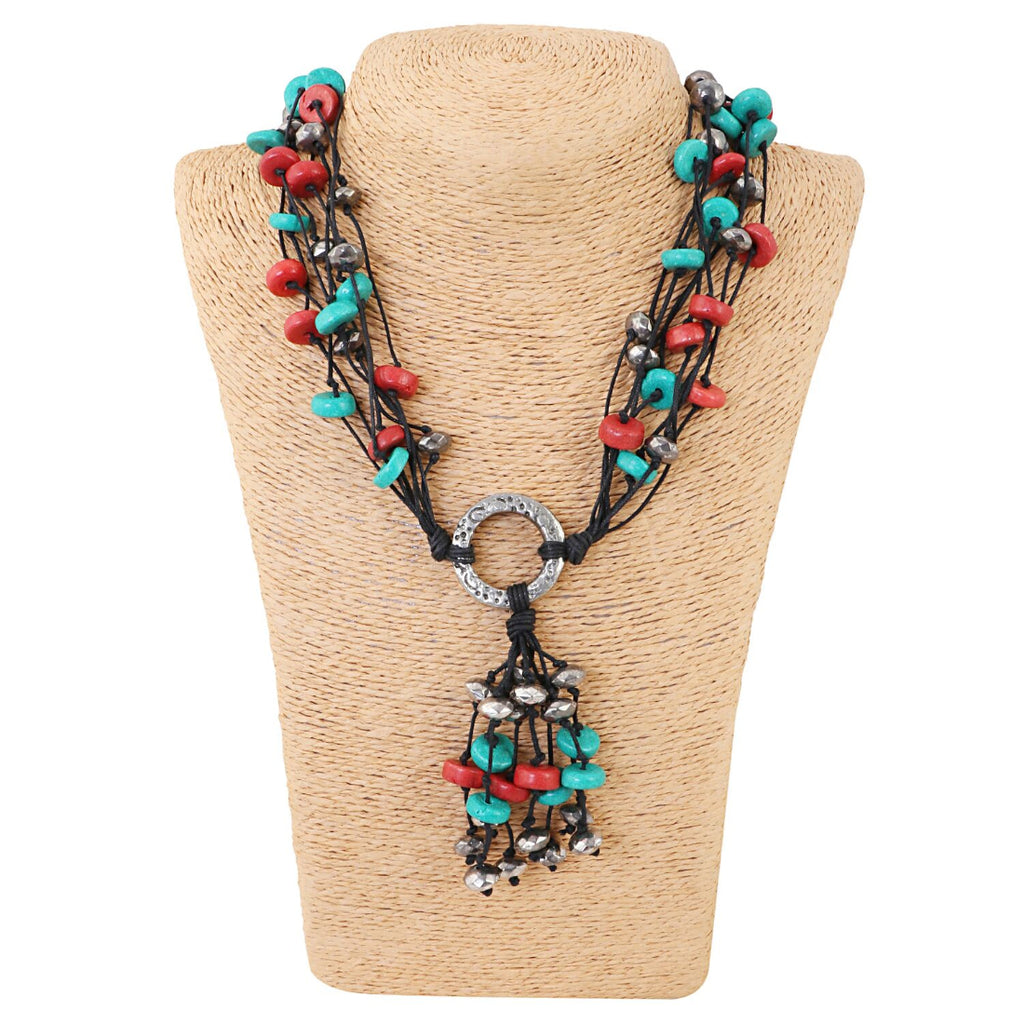 High Finished Multi Colour Beads Necklace
