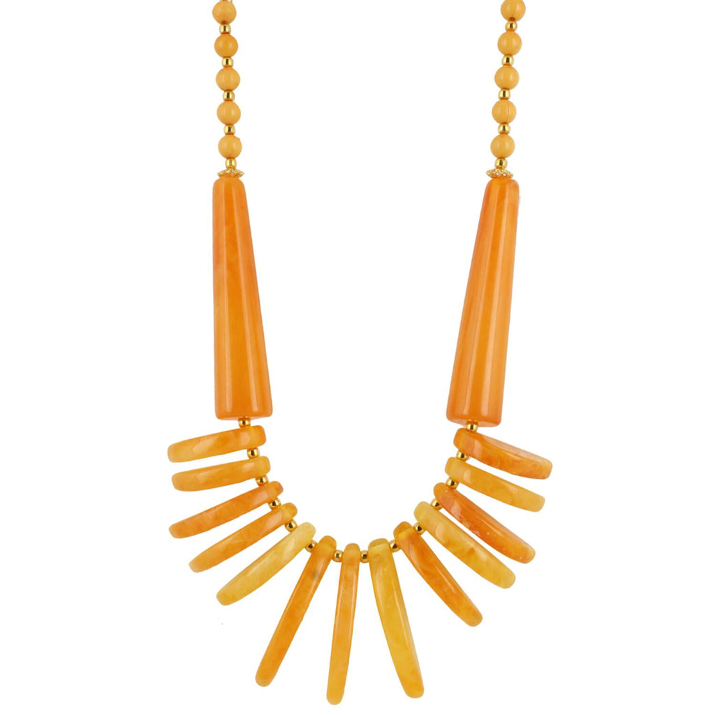 Yellow Beads Fashion Necklace
