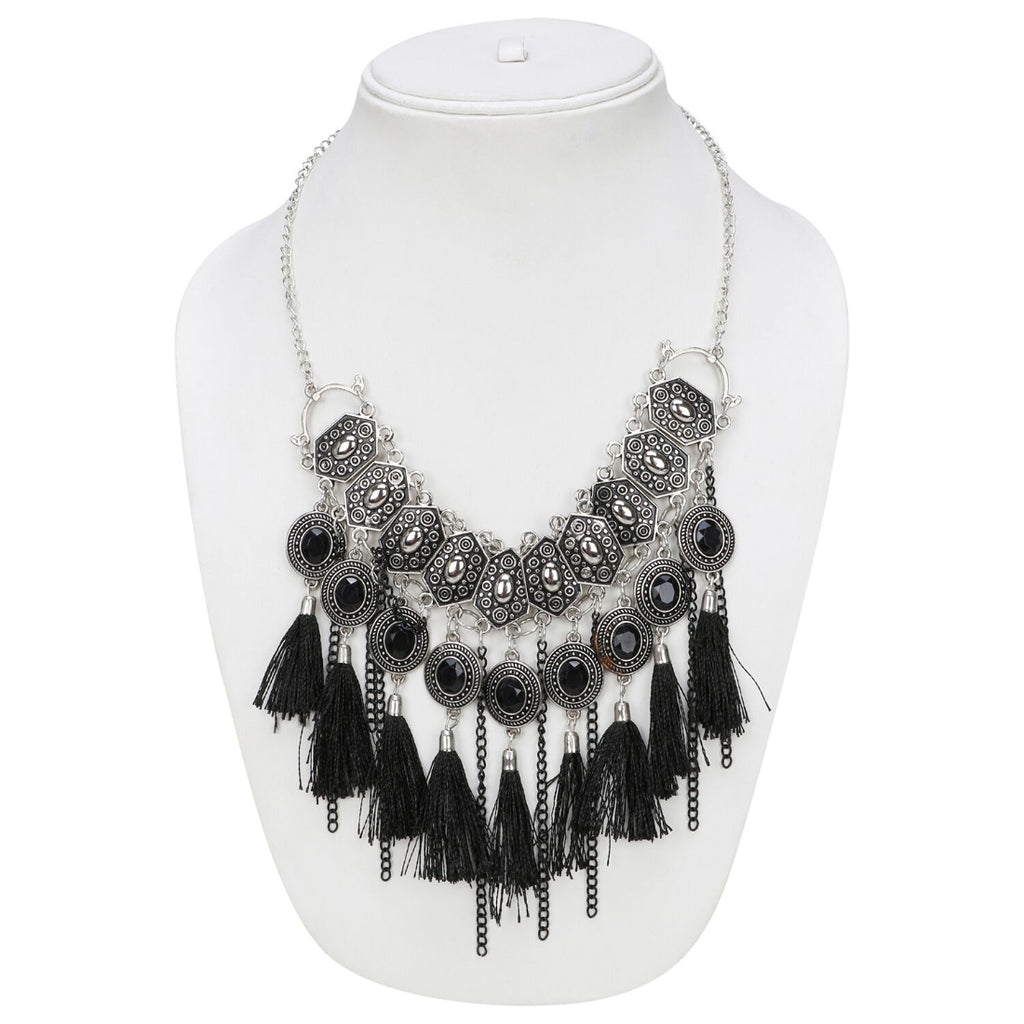 Stylish Boho Afgani Turkish Silver Necklace