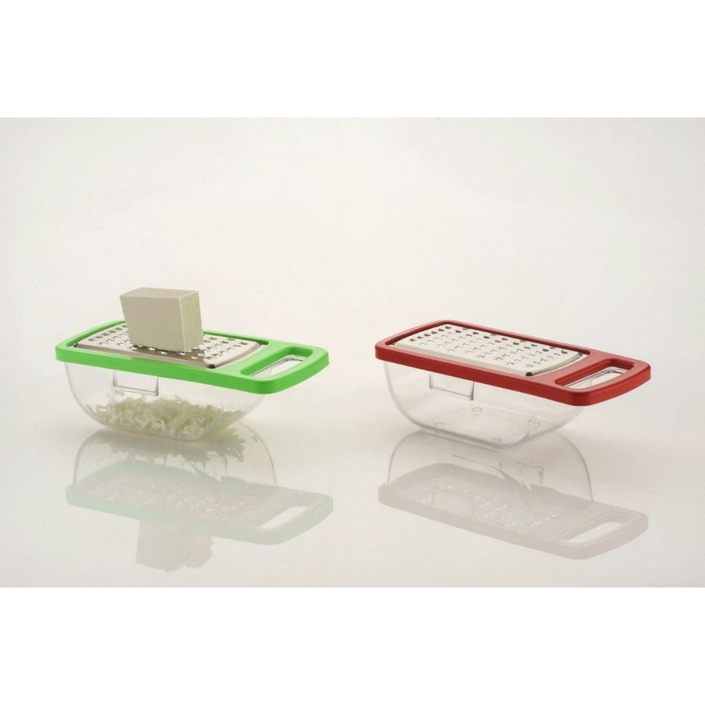 Generic Pack of 5_Cheese Grater,Slicer,Chopper With Stainless Steel Blades (Color: Assorted)