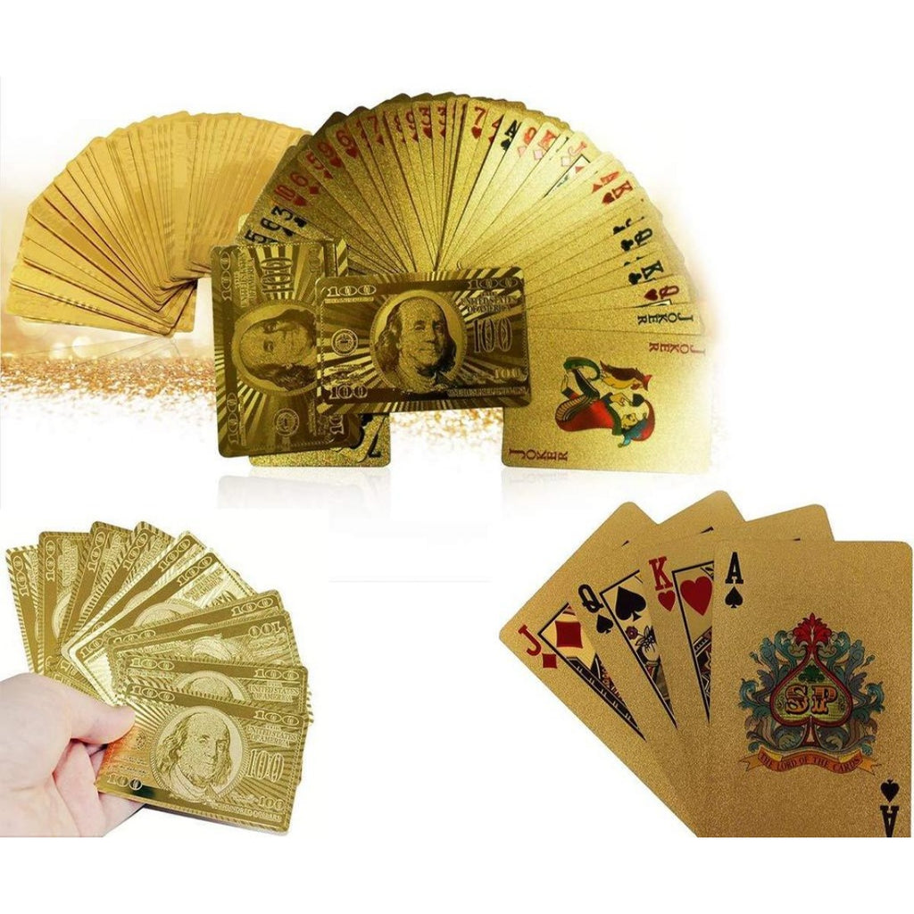 Generic Gold Plated Poker Playing Cards (Color: Assorted)