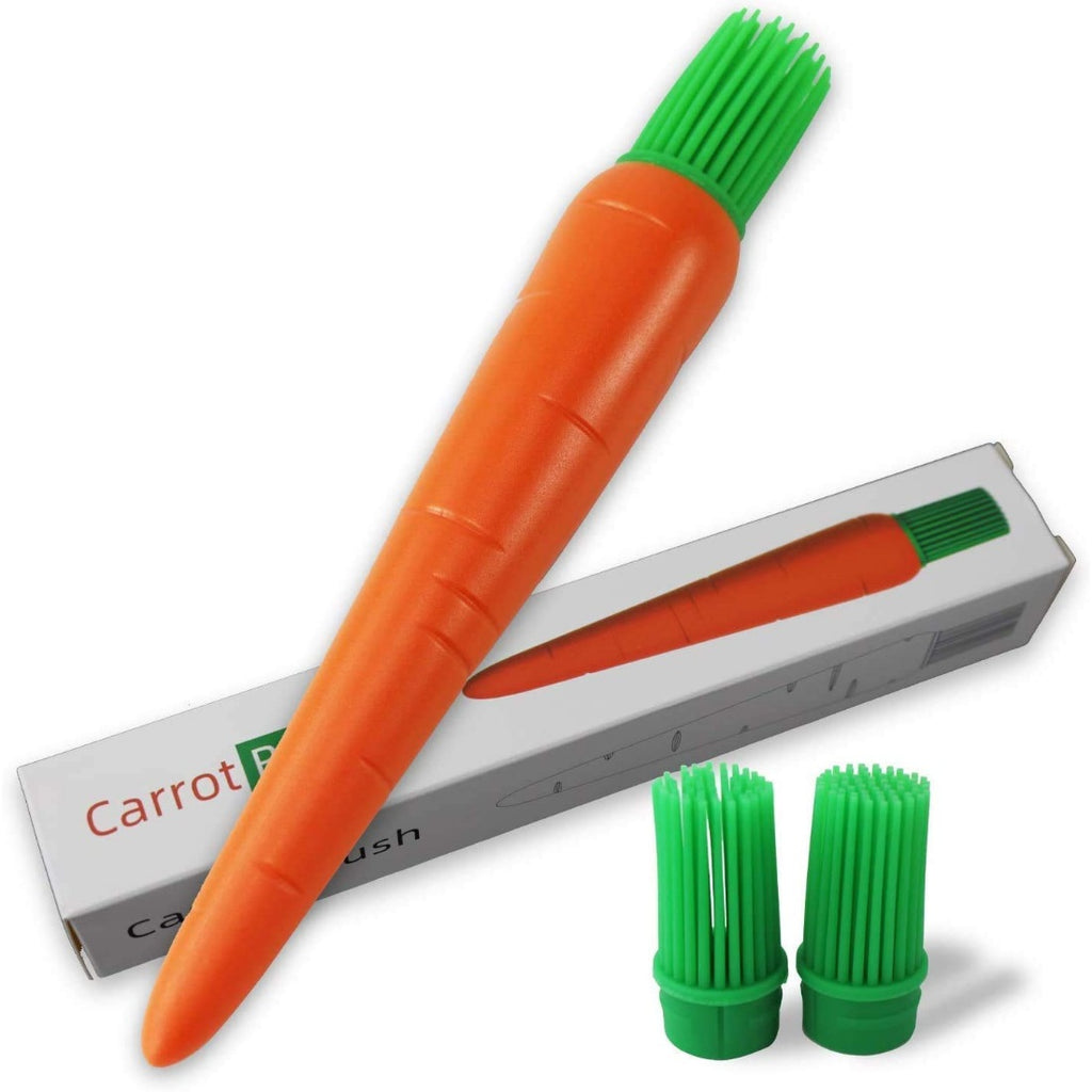 Generic Carrot Shaped Silicon Kitchen Oil Brush - Oil Brush- Silicon Brush (Color: Assorted)