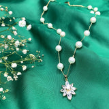 Star Design with Pearl Necklace
