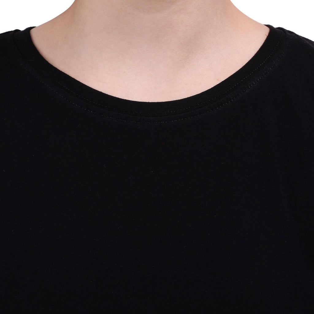 Premium Quality Plain Black Color Crop Top - thewardrobe-store-in