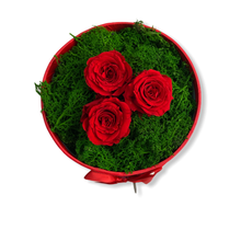 Load image into Gallery viewer, Tris di Rose stabilizzate rosse - Flowers Palermo