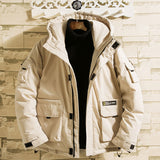 Men's Winter Jacket Coats High Quality Hooded Casual Thickened Warm Cotton Jacket Men's Loose Parker Coats Fashion Men's Jacket