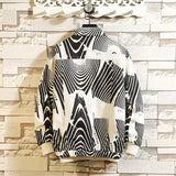 Black stripes color matching casual streetwear men jacket korean fashion casual loose windbreaker jacket men's clothes 2019 New