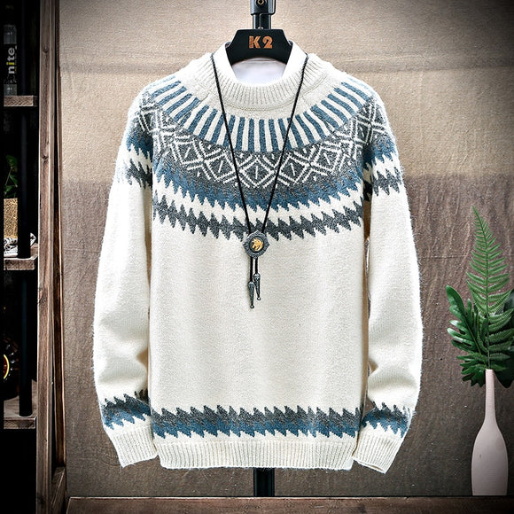 Autumn Winter Men Saweaters  basic winter mens Knitting  jacquard comfortable sweater