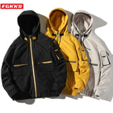 FGKKS Men Jackets 2020 Men's Hoodies Casual Jacket  Fashion Trend Brand Original Waterproof Fabric Jacket Male