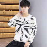 2020 Autumn Winter Men Pullover Casual Sweaters Male Knitted Korean Sweater Graffiti  Mens Fashion New Hip Hop Clothes