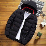 Winter Men's Solid Color Short Jacket, Fashion Slim Warm Hooded Cotton Clothing, Large Size Casual Youth Down Jacket S-5XL