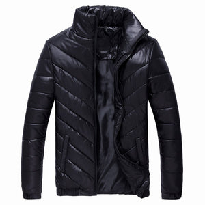 FGKKS Winter Men Parkas Jacket Male Solid Color Standing Collar Thicken Warm Down Parkas Coat Man's Casual Parkas Outwear