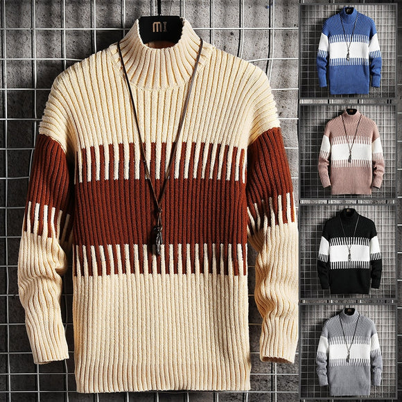 Autumn winter christmas sweater men clothes 2020 fashion warm mens sweater for men pullover  patchwork hit color