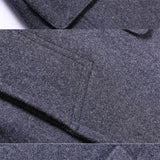FGKKS Winter New Wool Blend Coats Men Quality Brand Men's Fashion Luxurious Wool Overcoat Solid Color Casual Wool Coat Male