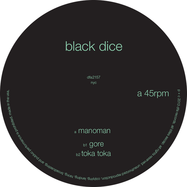 Black Dice - Manoman 12""