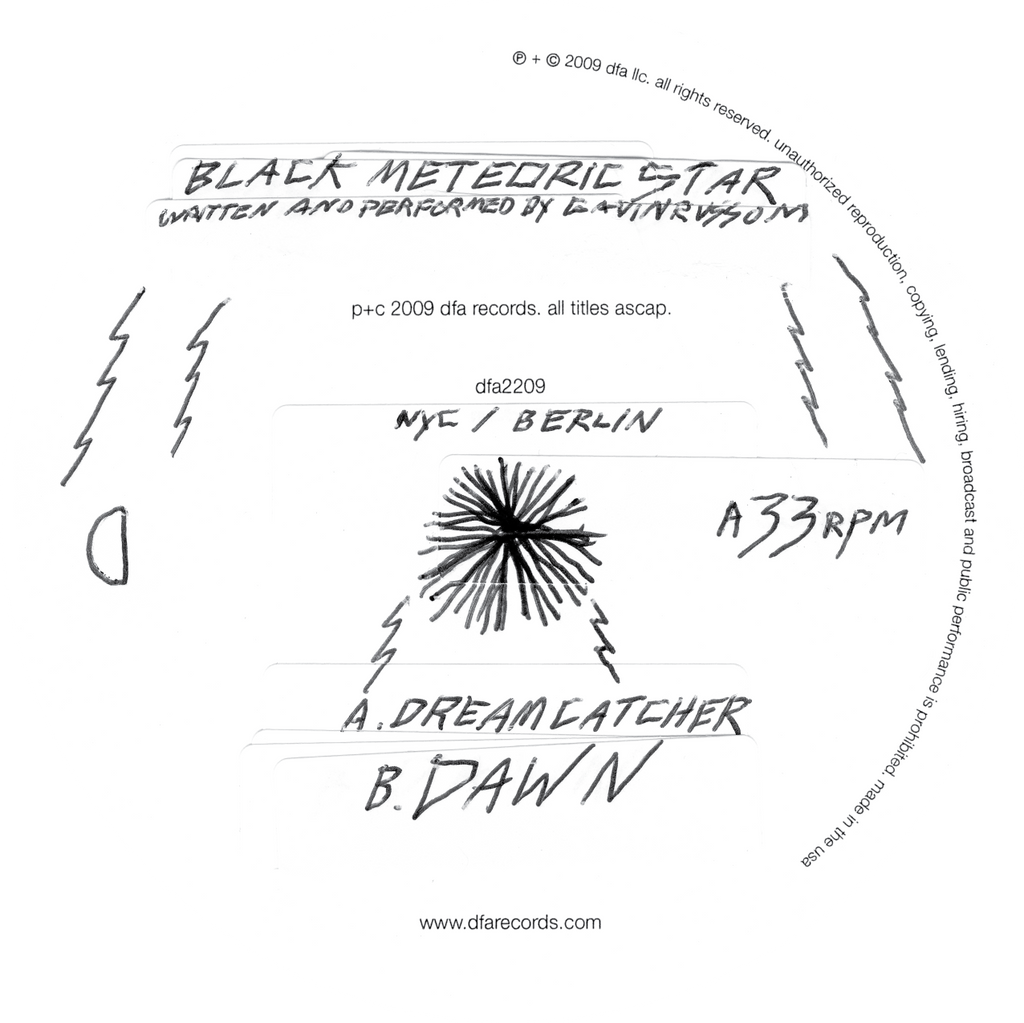 "Black Meteoric Star - Dream Catcher b/w Dawn 12"" Vinyl"