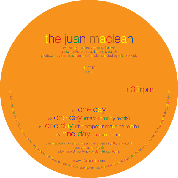 The Juan Maclean - One Day 12""