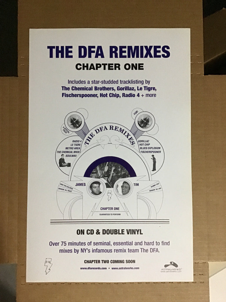The DFA Remixes - Chapter One Promotional Poster