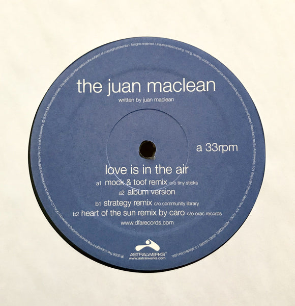 The Juan Maclean - Love is in the Air 12""