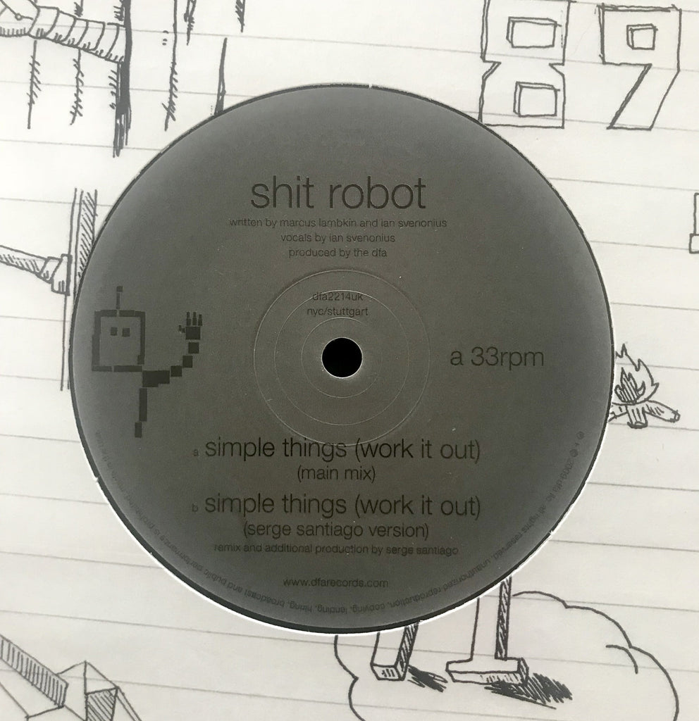 Shit Robot - Simple Things (Work It Out) Serge Santiago Version 12""