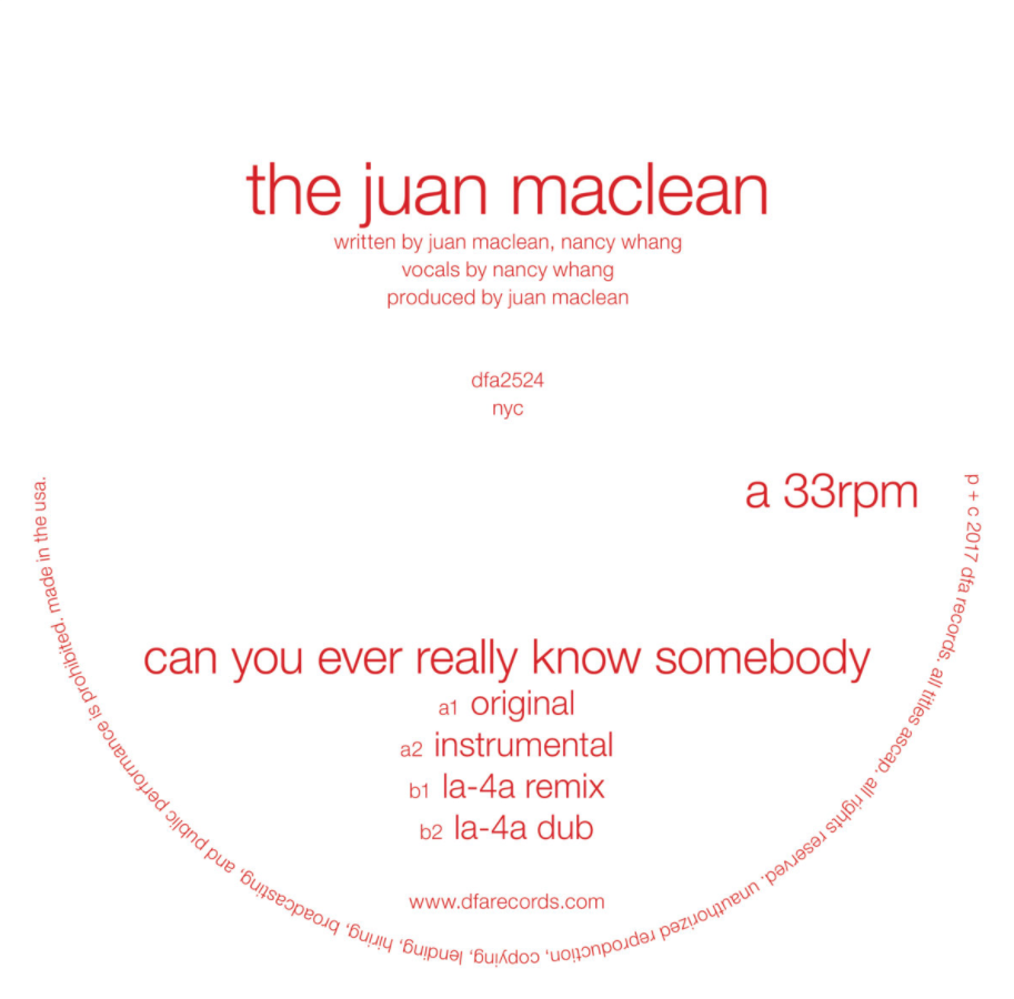 The Juan Maclean - Can You Ever Really Know Somebody 12""