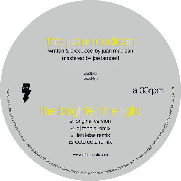 The Juan Maclean - The Brighter The Light 12""