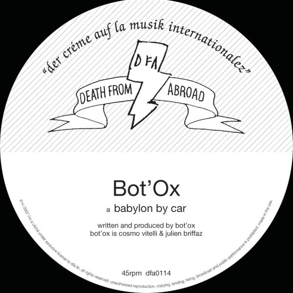Death From Abroad: Bot'Ox - Babylon By Car 12""