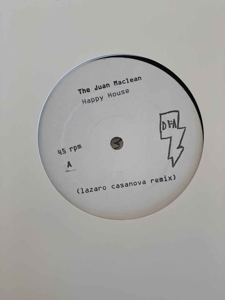 The Juan Maclean - Happy House - Remixes #1 (White Label) 12""