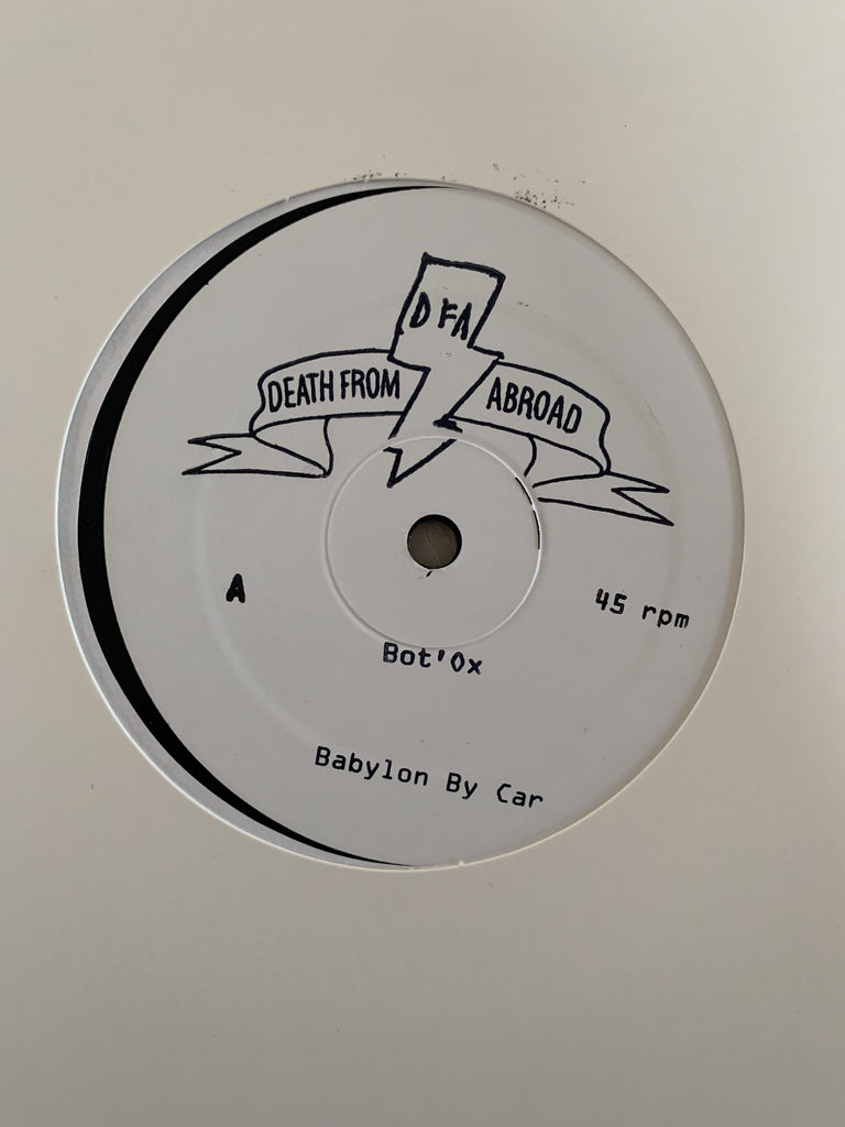 "Death From Abroad Series / Bot'Ox - Babylon By Car (White Label 12"")"