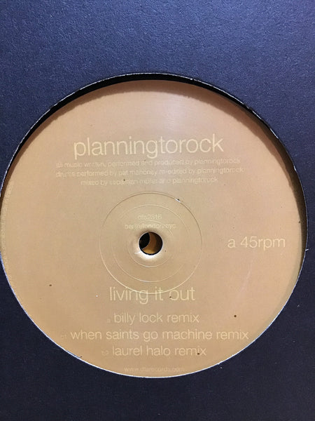 "Planningtorock - Living It Out 12"" w/ Billy Lock (Hot Chip) + Laurel Halo Remixes"