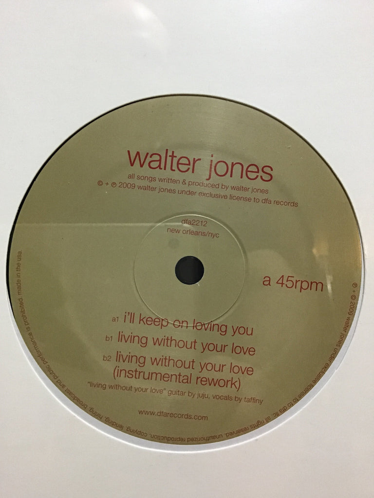 Walter Jones - I'll Keep On Loving You 12""