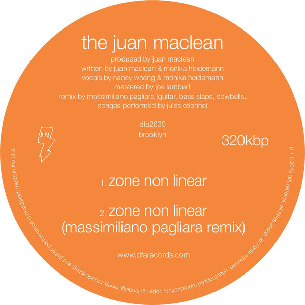 The Juan Maclean - Zone Non Linear 12""