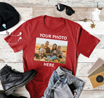 Load image into Gallery viewer, Add Your Own Photo Custom T-Shirt