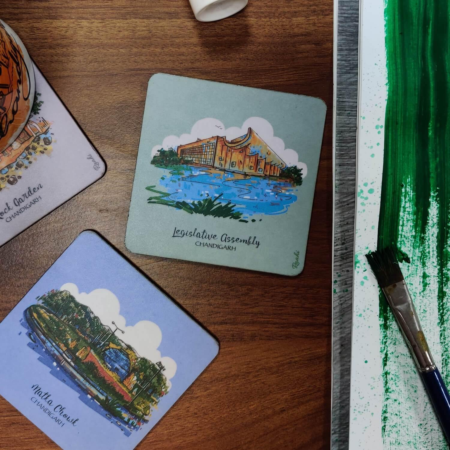 Chandigarh Coasters (Set of 6) - Raahi