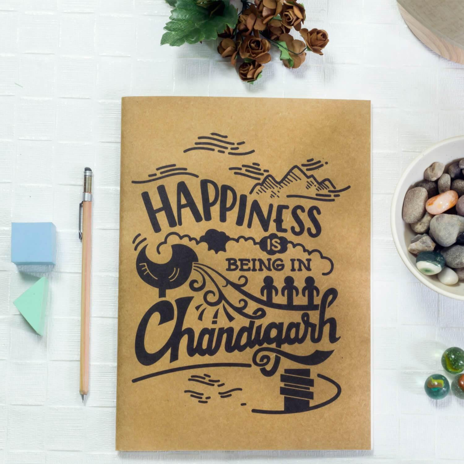 Happiness Chandigarh Notebook - Raahi