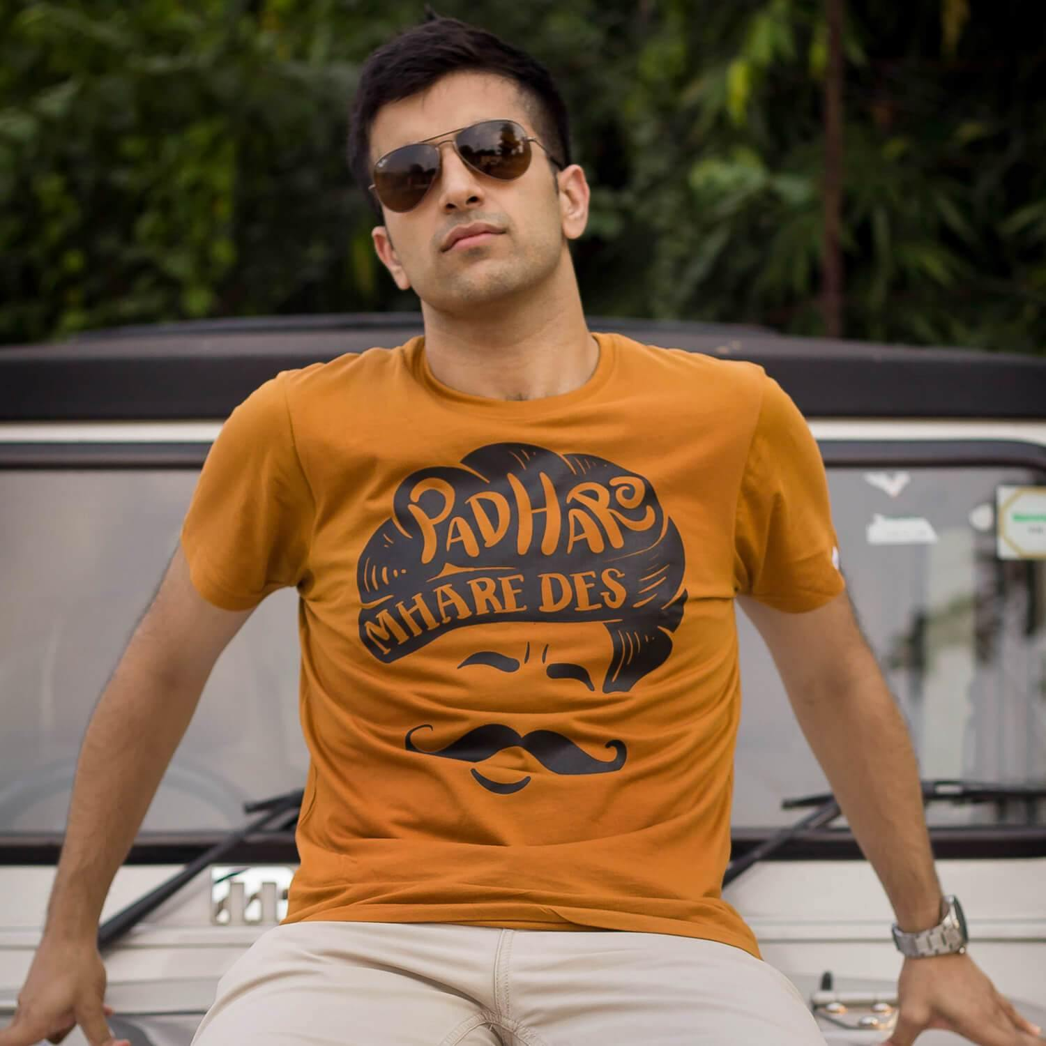 Padharo - Golden Brown T-Shirt - Raahi