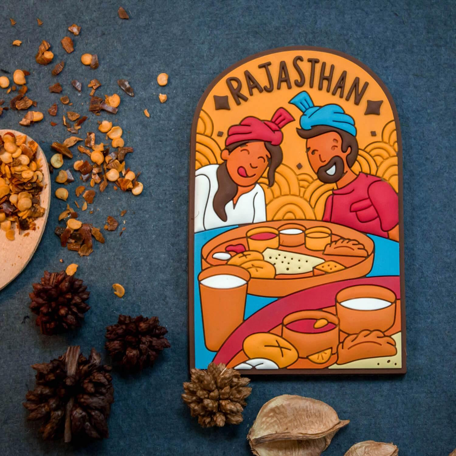 Rajasthan Fridge Magnets (Pack of 6) - Raahi