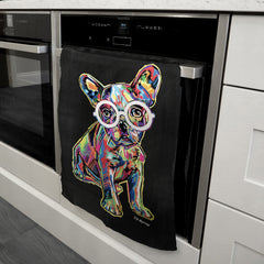 Hollie the French Bulldog Tea Towel