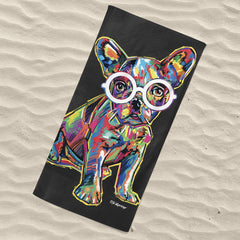 Hollie the French Bulldog Beach Towel