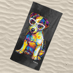 Floyd the Jack Russell Beach Towel