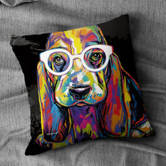 Joshua the Basset Hound Cushion