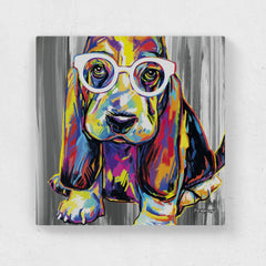 Joshua the Basset Hound Canvas Print