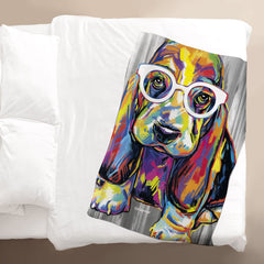 Joshua the Basset Hound Blanket
