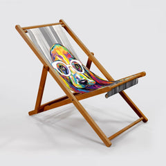 Joshua the Basset Hound Deck Chair